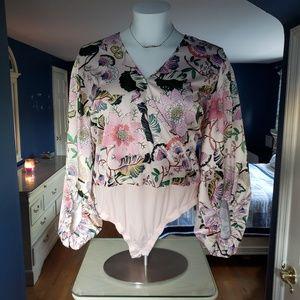 Eloquii Floral Bodysuit